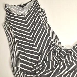 🍁 Chevron Maxi Sleeveless Style & Co Petite Sz Sm
